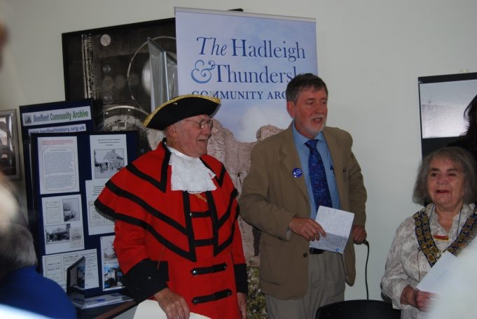Our 'Town Crier', Peter Hammerton, at the Archive Launch | Ian Hawks