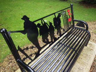 The Bench at the Hadleigh War Memorial | Terry Barclay