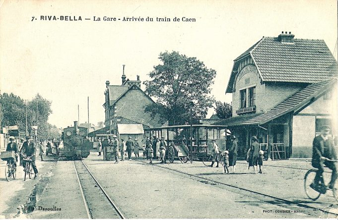 A picture from Wikipedia of the railway station. It must be at or near Ouistreham, so the D-Day connection would be accurate. | Wikipedia {Image in the Public Domain}