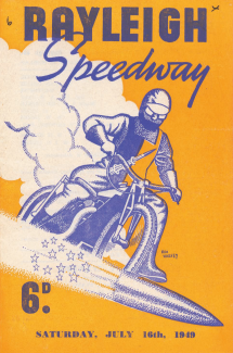An early programme cover from Rayleigh Speedway (R. M. & R. (Holdings) Ltd) | with thanks to Peter Lewsey for making it available