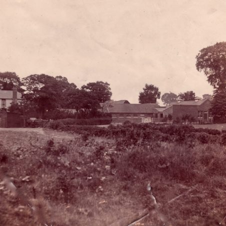 Photo taken of Sayers and dairy early 1930s from the east Seed article