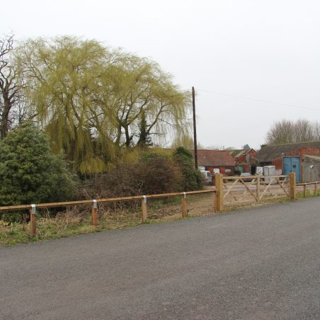 A view of the remains of the Dairy today with Sayer's Farm on the left.