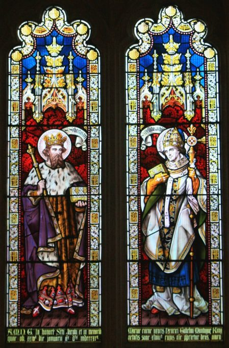 Window showing King and Bishop