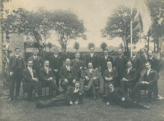 A staff outing to Manor Lodge in 1918
