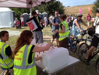 Handing out water | Brian Nichols