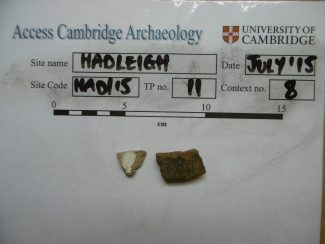 The Larger Piece is 12th to 14th Century Essex Grey Ware | Access Cambridge Archaeology