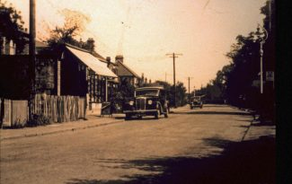 Hart Road shops c1935 where Jock the barber and Howard Stone later had their businesses. | H.& T. C. Archive