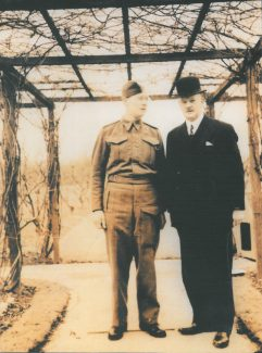 Both Archibalds - taken in the ground of Manor Lodge during WW2