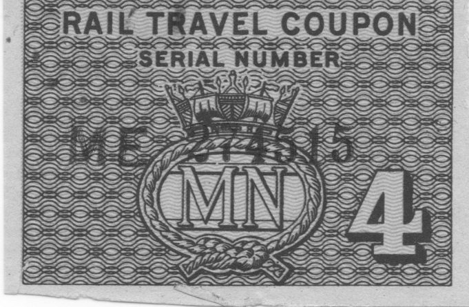 Merchant Navy travel coupon. | Ian Hawks.