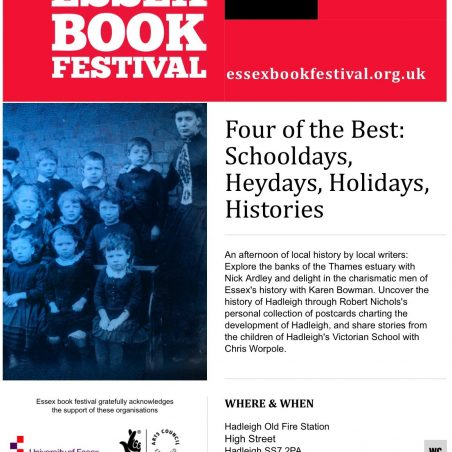 Essex Book Festival - 26th MARCH 2014
