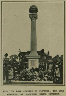 Unveiling of War Memorial from Illustrated London News 21 October 1922 | Image © Illustrated London News Group
