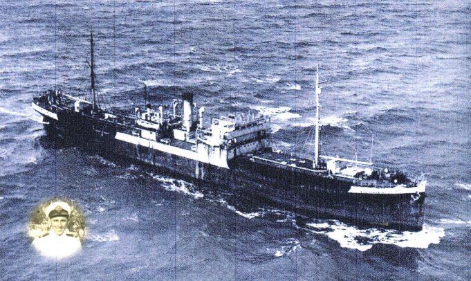 Ian Hawks (inset), R.F.A. War Brahmin, Fleet tanker | Ian hawks.