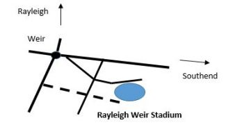 Weir Stadium location map | Terry Barclay