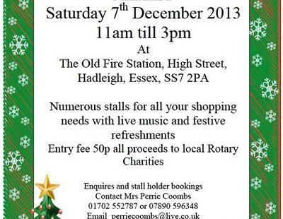 Hadleigh Castle Rotary Christmas Market 2013