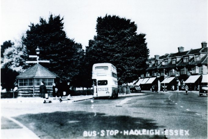 Hadleigh Bus Stop by the Church, where young Alice hid after her devastating experience. | Alice Chafer