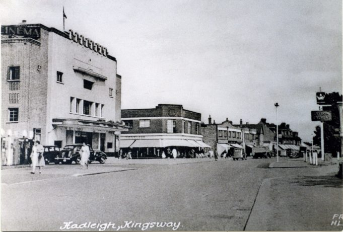 Hadleigh Kingsway Cinema, Yaxlees and Taylor Walker's The Crown pub (looking east) | Alice Chafer