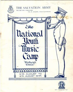 Front cover of itinerary 1947 | Graham Cook collection