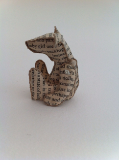 A beautiful bear made reusing old books - by Karen Apps | Chris Ruston