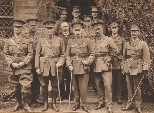 Second in from the right; 2nd Lieutenant George Edward Morris | Will Morris