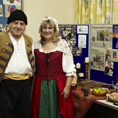 Thanks to Karen Bowman, her enthusiasm, dress sense and exhibits. Here as Aunt Hilda to my Uncle Jonah | Tessa Hallmann