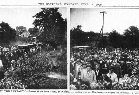 1928 Thundersley Triple Fatality - funeral pictures