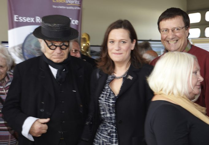 Shaken and stirred in VIP presence: Cunning Murrell met an embarrassed Rebecca Harris, MP: