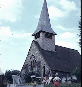 "Image from Margaret Blewitt's article ""St. Peter's Church before the extension"" (approx. 1961/2)"