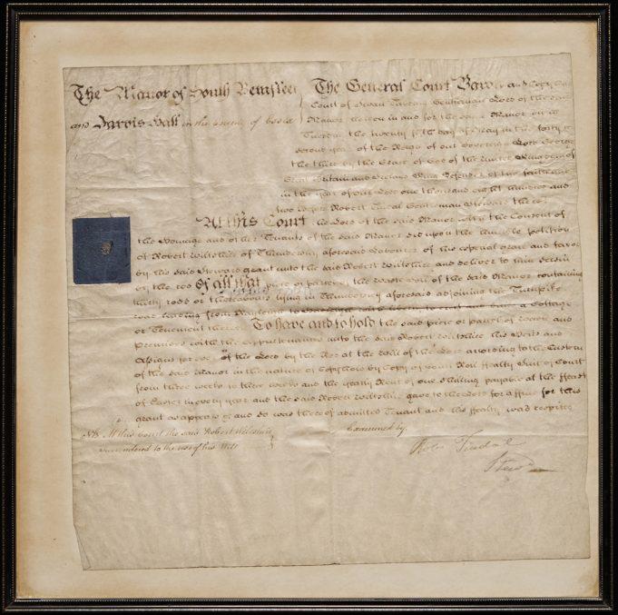 1802 deeds of a house built on the assart in the Rayleigh Road…   Neal Warren (Photo Tessa Hallmann)