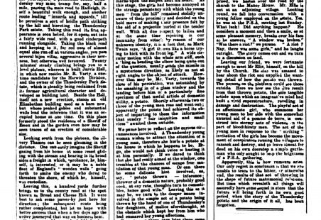 Third and final column of 1902 report on Thundersley