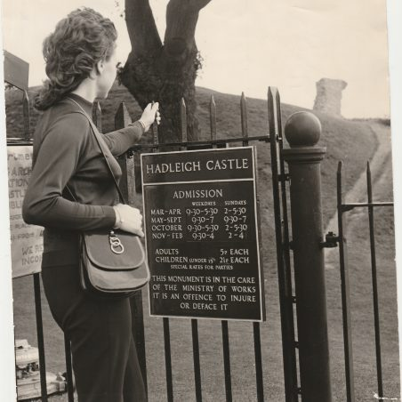 The Castle entrance, this photo dated 1978 shows clearly the admission charges and the opening times. | ECHO newspapers