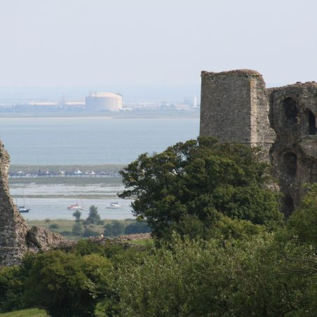 Looking across Hadleigh Castle today to the Thames Estuary. | Graham Cook