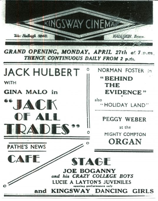 The opening advertisement. (Scan from newspaper.)
