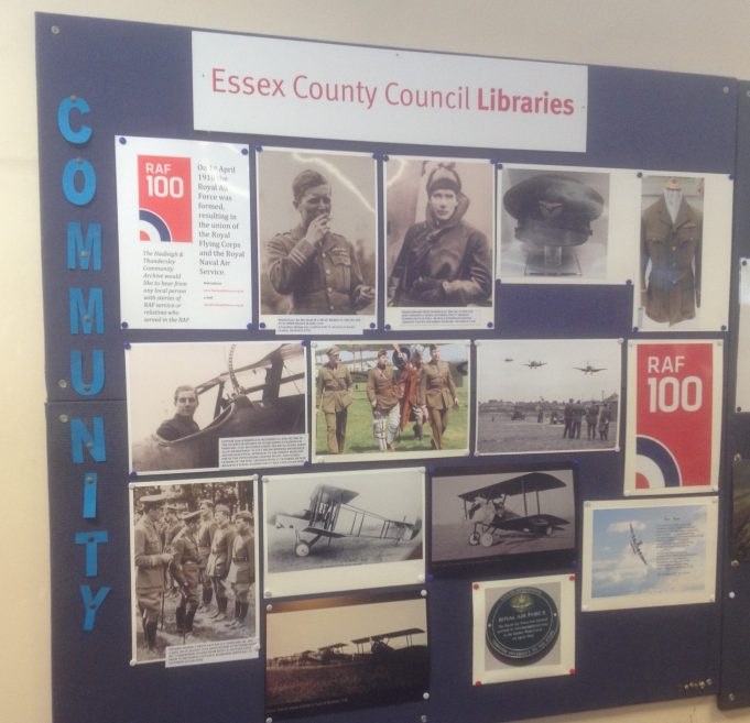 Community Archive display in Hadleigh Library April 2018