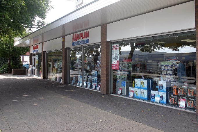 Maplin store in Stoke