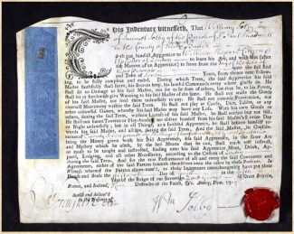 Picture B   . . .  Indenture of William Solby  . . .