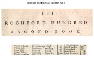 Picture G  1763 Poll for Rochford Hundred
