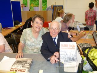 Val promoting his new book with author Bob Nichols at the HOFS History Fair 2013 | Malcolm Brown