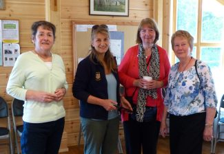 Val with Carenza, Lynda and Sandra     2013 at Daws Heath  | Malcolm Brown