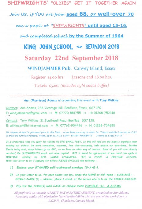 King John School 2018 Reunion