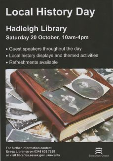 Hadleigh Library 20th Oct 2018 10 am to 4 pm | D Hurrell