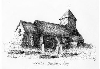 North Benfleet Church drawing dated 5 October 1847 | Photo by Tessa Hallmann