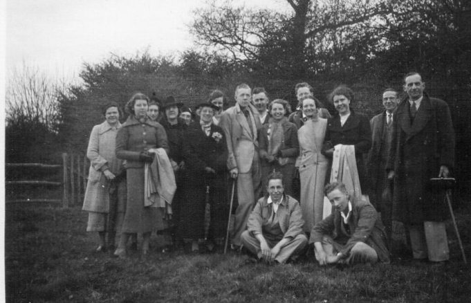 18th April 1938.  M G members on a ramble through the Hanningfields | Mary Armour