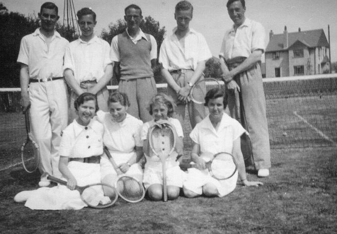 The Tennis Club 1st August 1938. Names needed. | Mary Armour