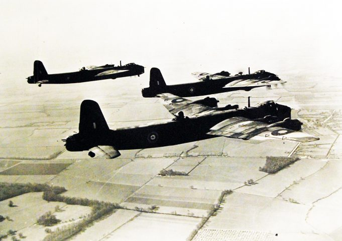 Short Stirling bombers 1942-43   Public Domain