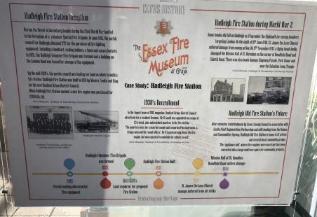 Information Boards: Essex County Fire & Rescue