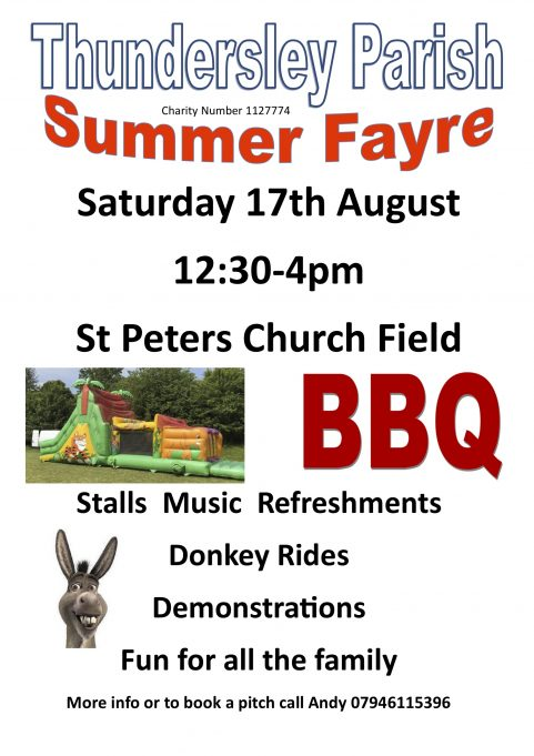 St Peters Summer Fayre 17th August 2019