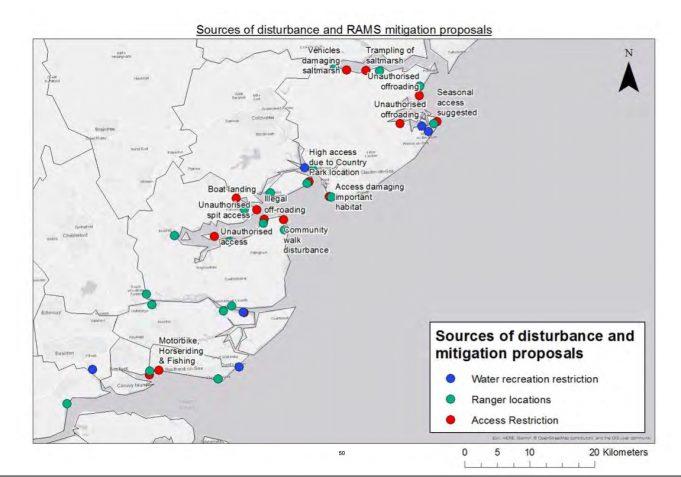 Disturbance and mitigation proposed | Bird Aware Essex Coast