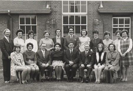 Hadleigh Junior School staff, summer 1972.