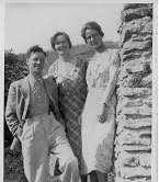 Majors George & Jean Walpole with sister of Jean Walpole, Emma Slater, who was cashier in the Hadleigh Colony Head Office.
