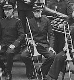 Douglas Walpole with his trombone. | via Sian Davies